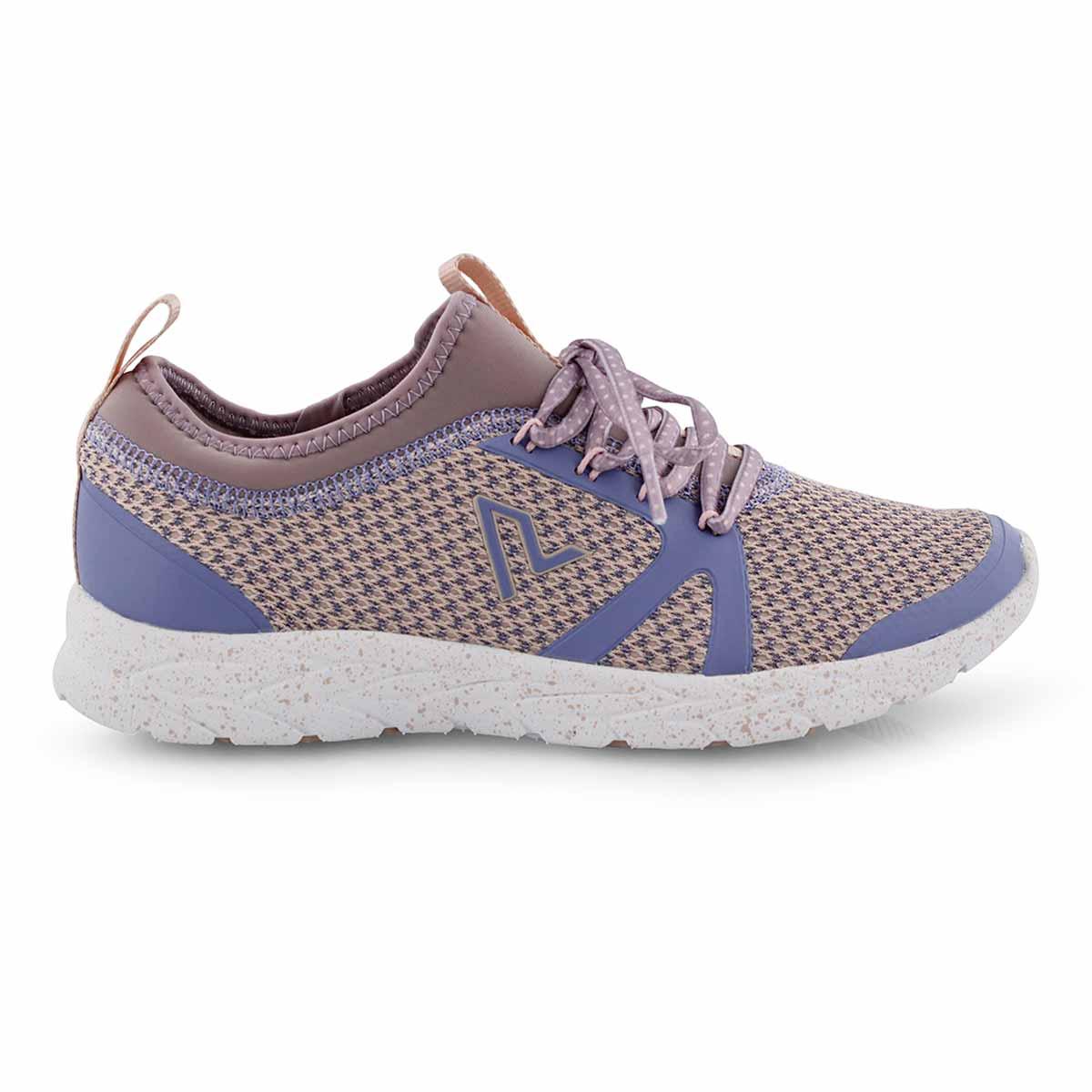 Lds Alma purple/multi lace up sneaker