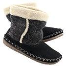 Lds Alpine black bootie slipper