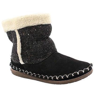 Foamtreads Women's ALPINE black bootie slippers