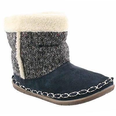 Foamtreads Women's ALPINE navy bootie slippers