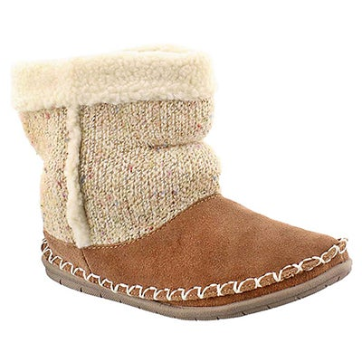 Foamtreads Women's ALPINE tobacco bootie slippers