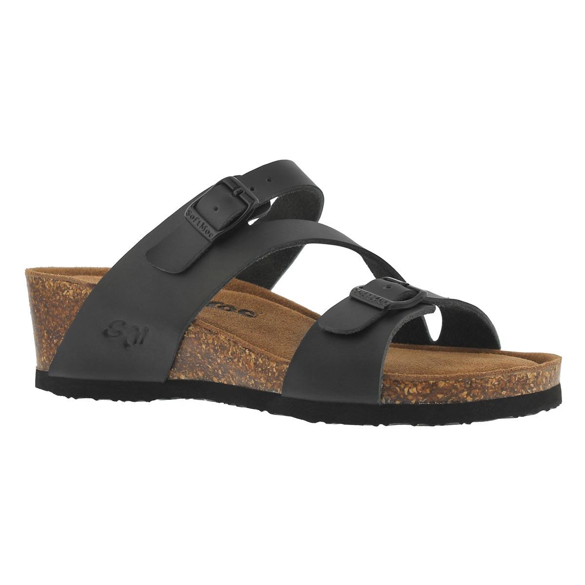 Women's ALTHEA 5 black memory foam wedge sandals