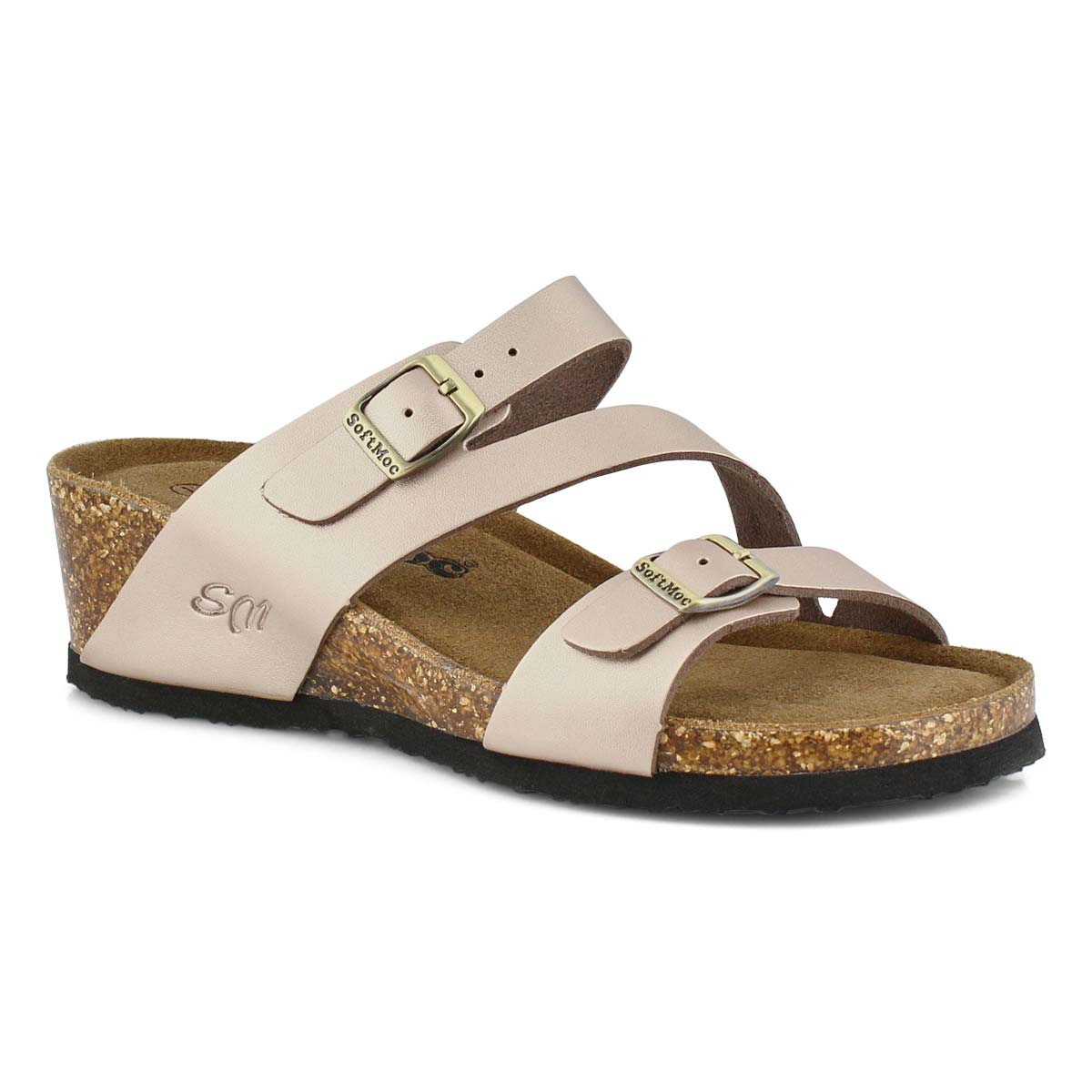 Women's ALTHEA 5 rse gld memory foam wedge sandals