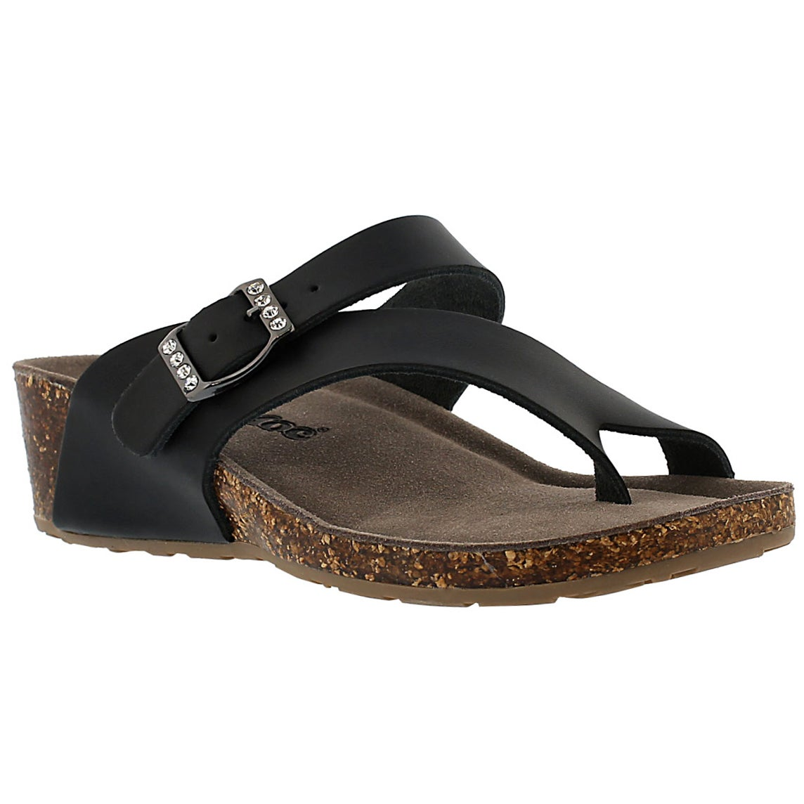 Women's AMBER 3 black memory foam sandals