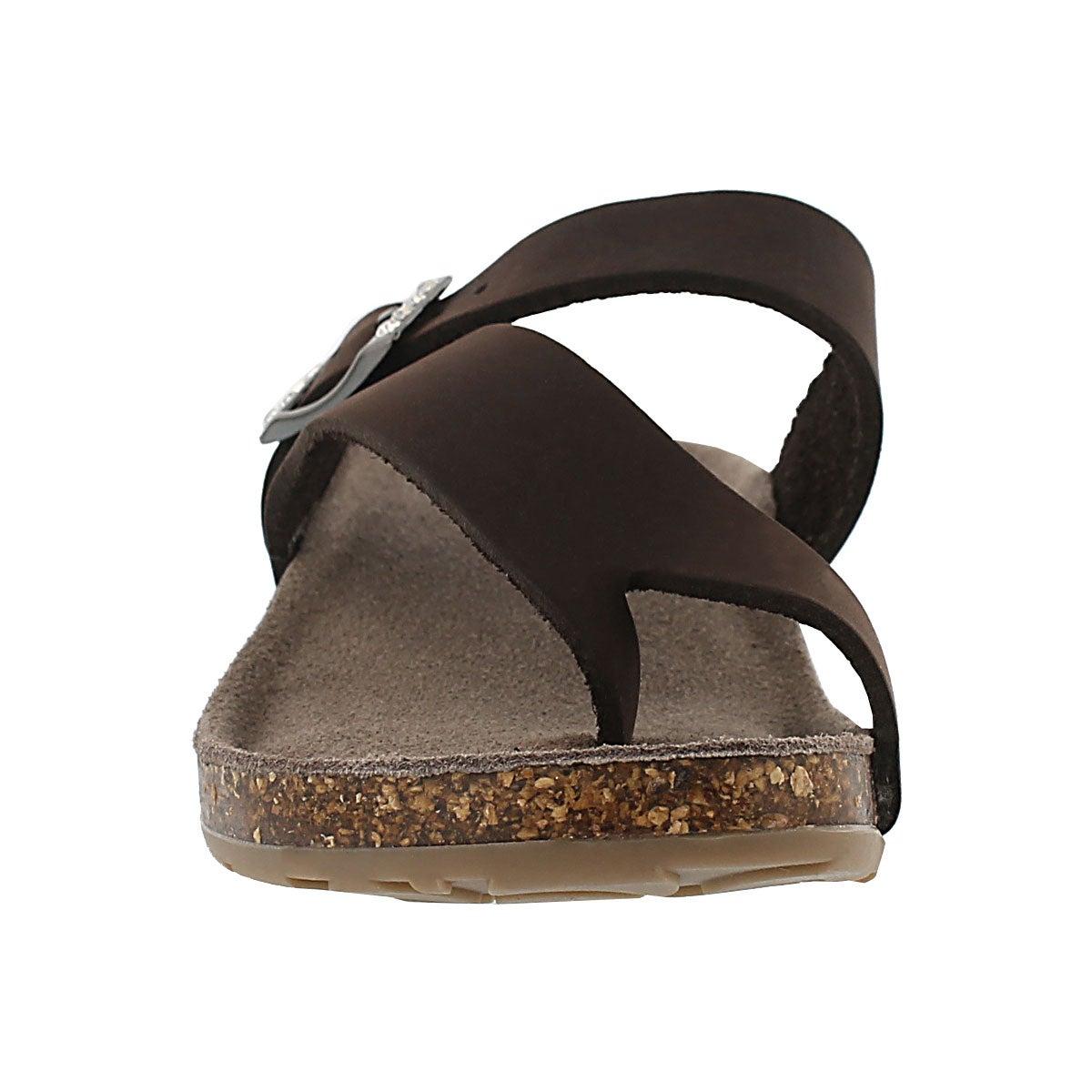 Sandale tong AMBER 3, brun, femmes