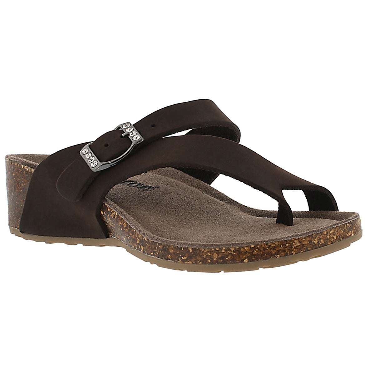 Women's AMBER 3 brown memory foam sandals