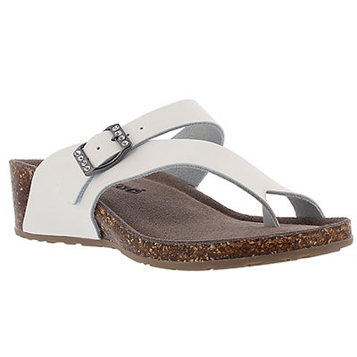 SoftMoc Women's AMBER 3 white memory foam sandals