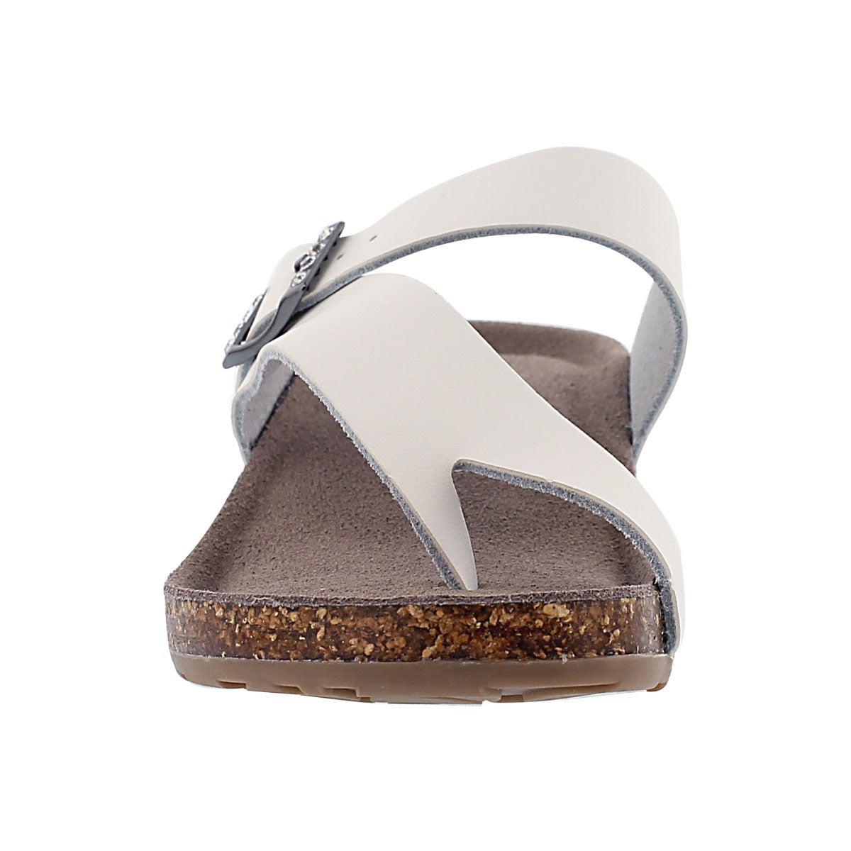 Lds Amber 3 white memory foam sandal