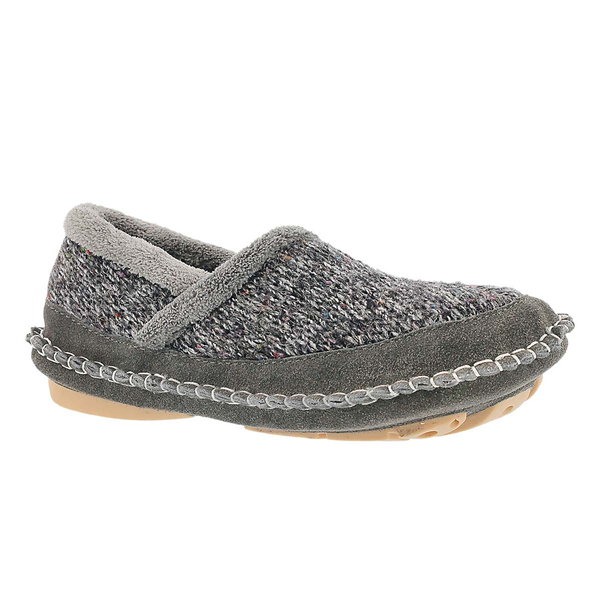 Women's AMELIA grey closed back slippers