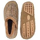 Lds Amelia olive closed back slipper