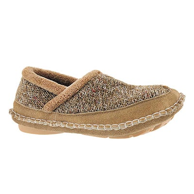 Lds Amelia olive closed back slipper