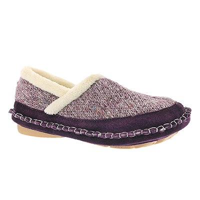 Foamtreads Women's AMELIA purple closed back slipper