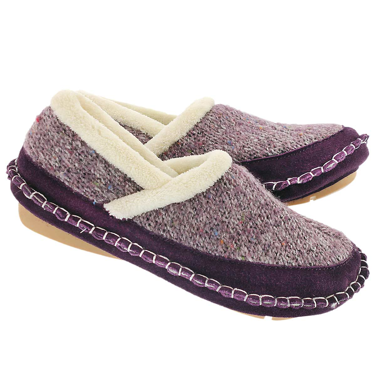 Lds Amelia purple closed back slipper