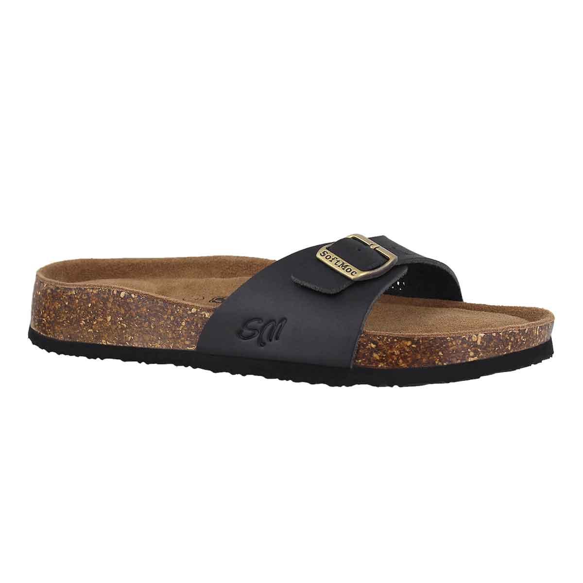 Women's AMIE 5 blk perf memory foam slide sandals
