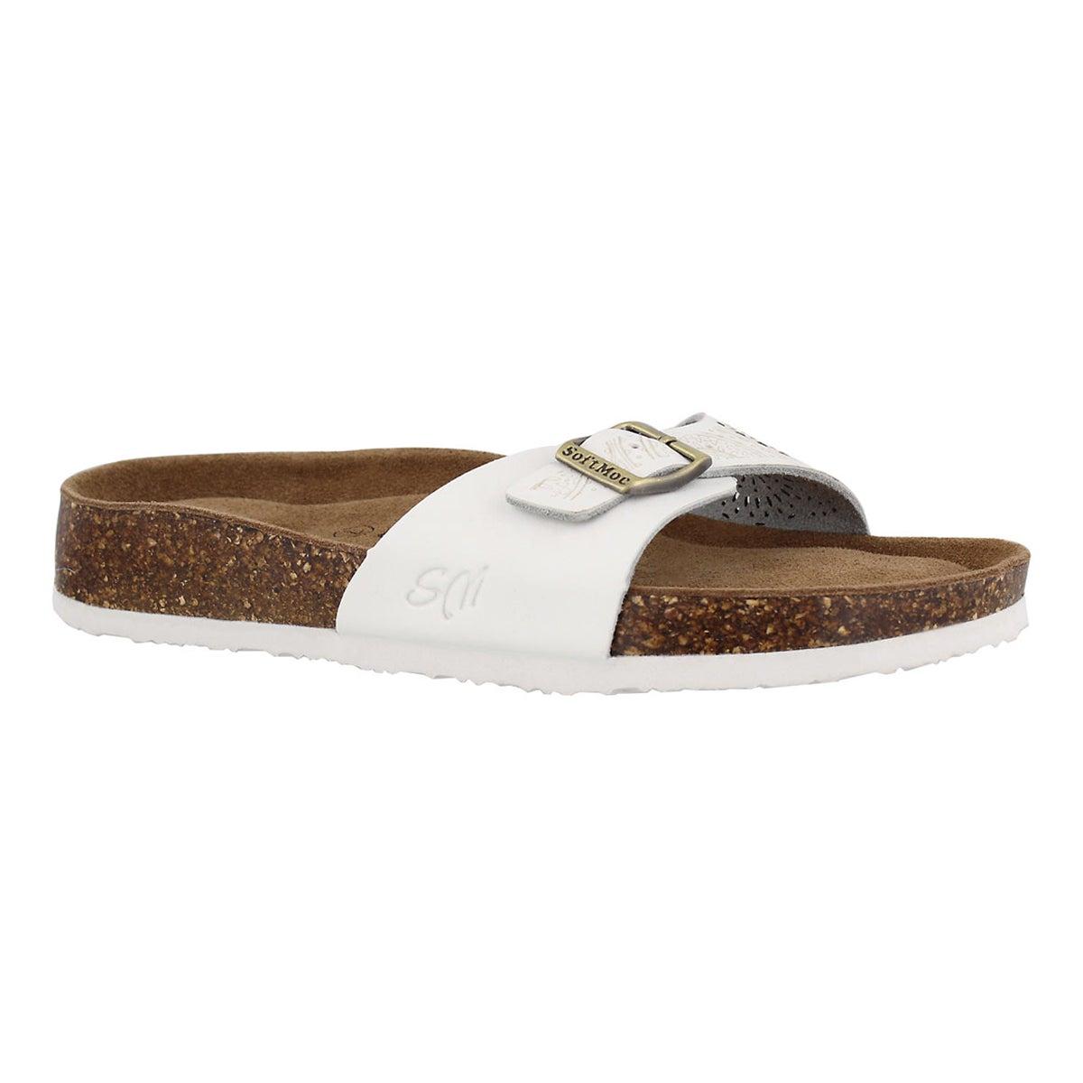 Women's AMIE 5 whit perf memory foam slide sandals