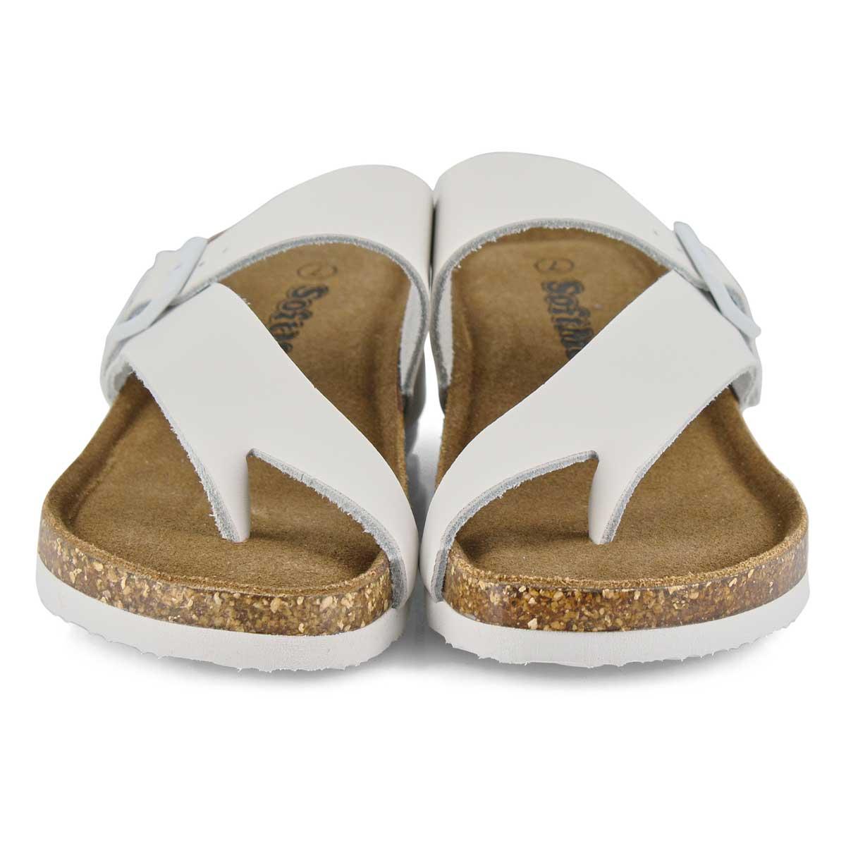 Lds Andrea5 white memory foam wdg sandal