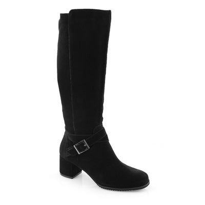 Lds Angie black wtpf knee high boots