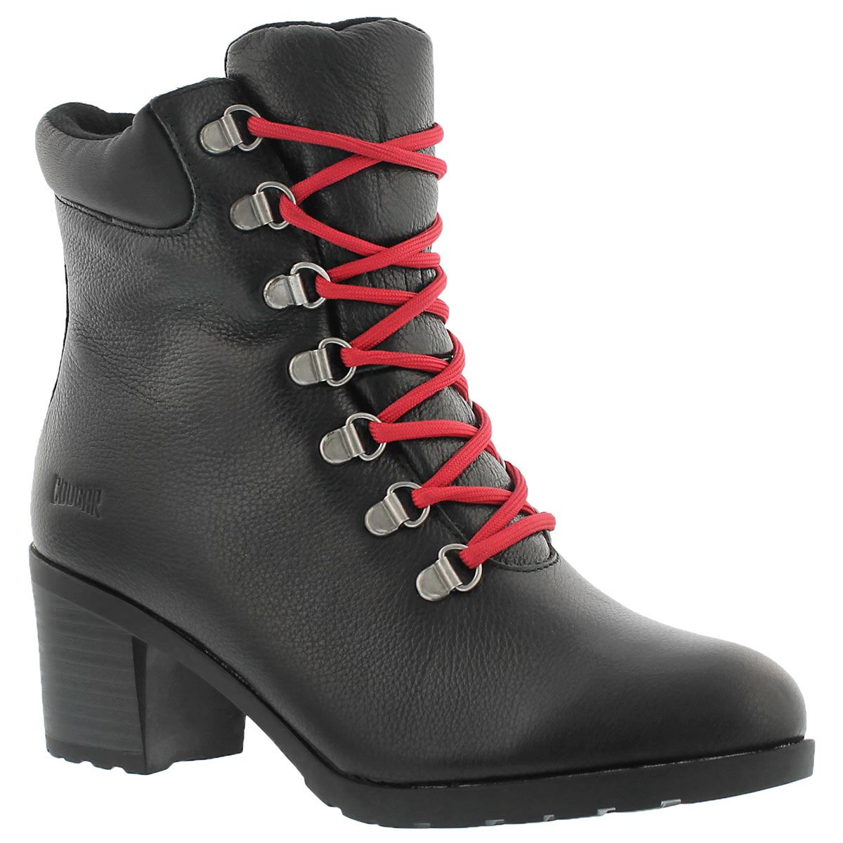 Women's ANGIE black lace up waterproof ankle boots