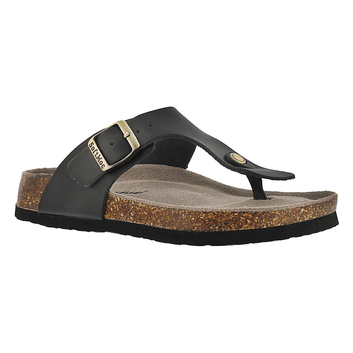 Lds Angy 4 blk memory foam thong sandal