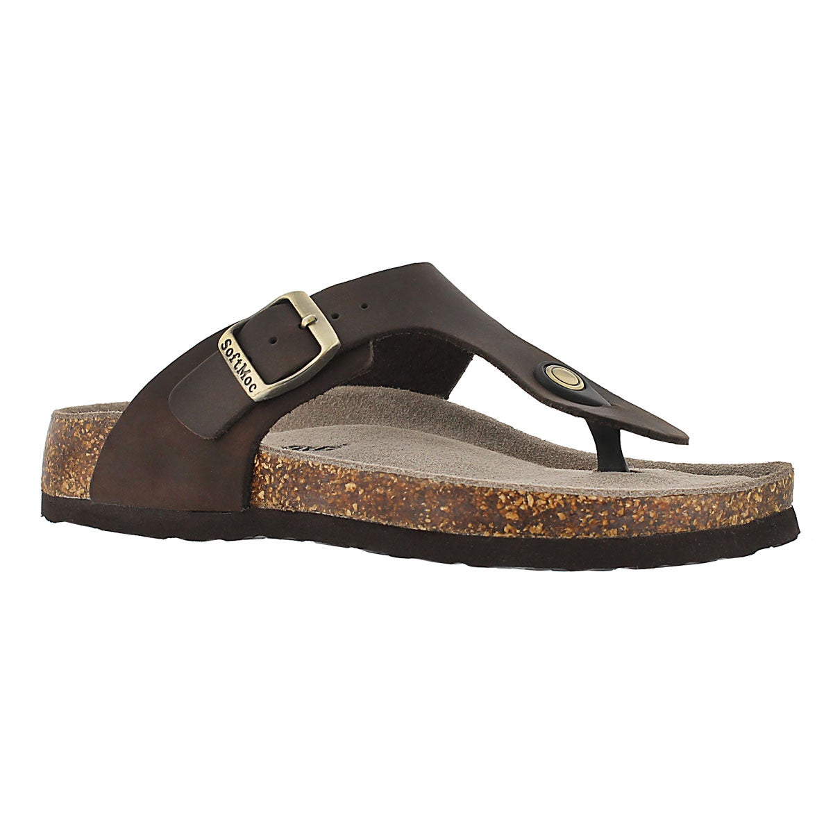 Women's ANGY 4 brown memory foam thong sandals