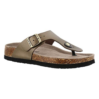 SoftMoc Women's  ANGY 4 gold memory foam sandals