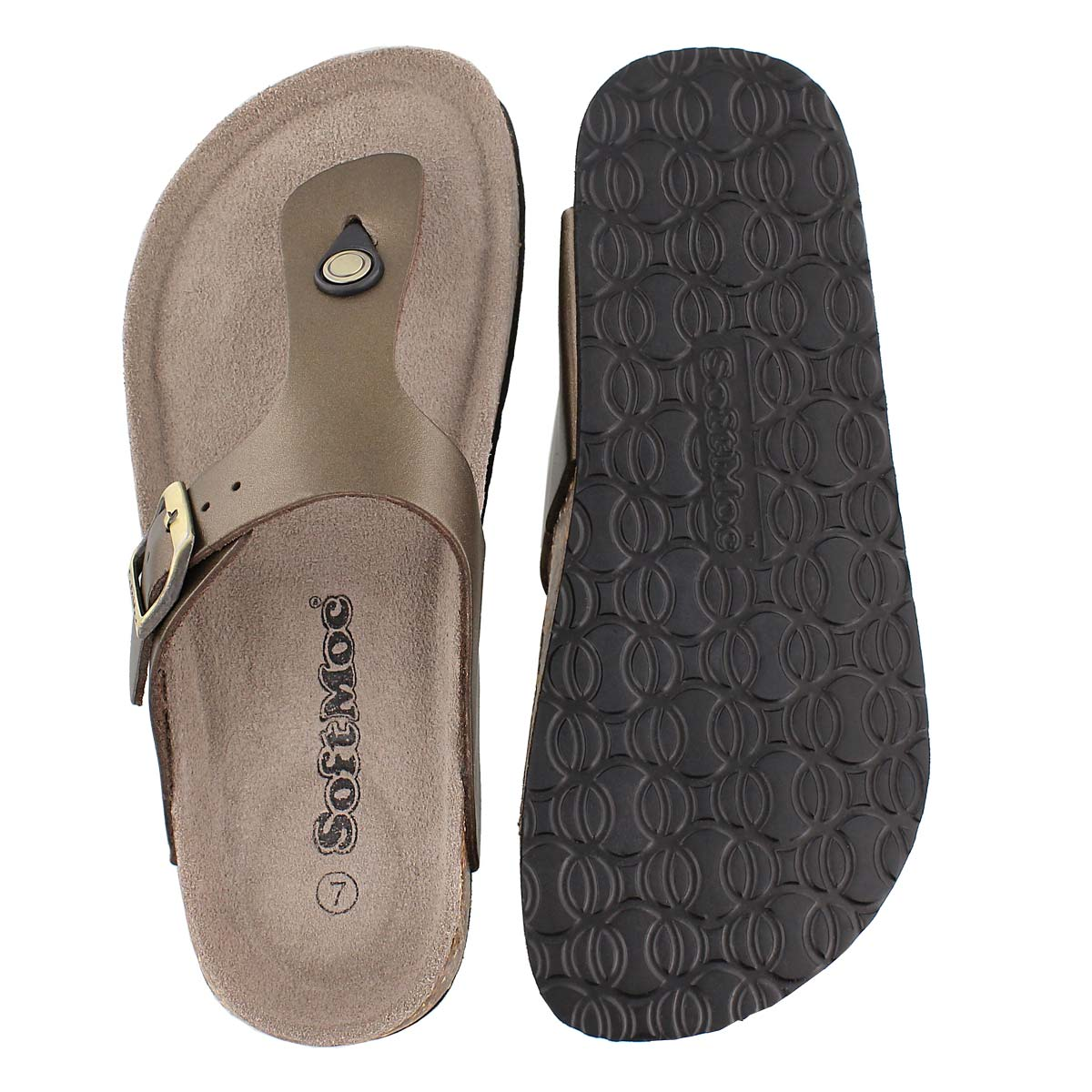 Lds Angy 4 gold memory foam sandal