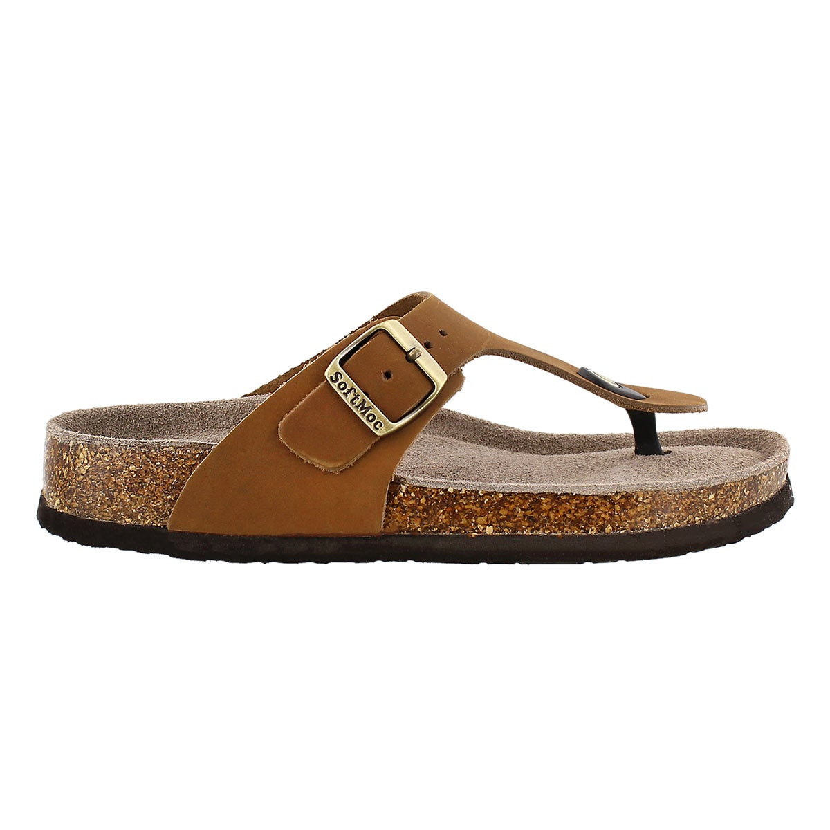 Lds Angy 4 tan memory foam thong sandal