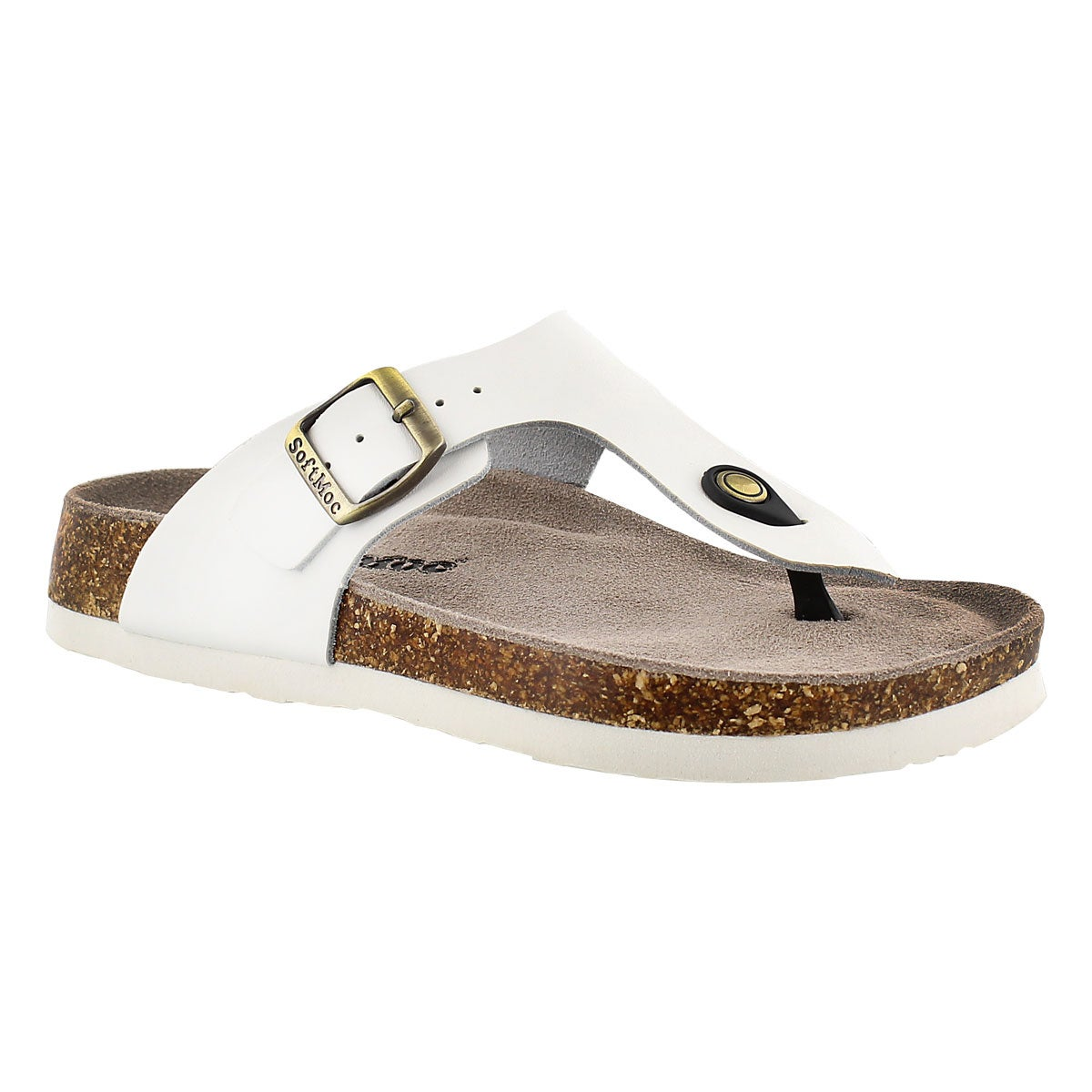 Lds Angy 4 wht memory foam thong sandal