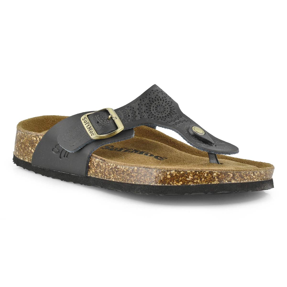 Women's ANGY 5 blk perf memory foam thong sandals