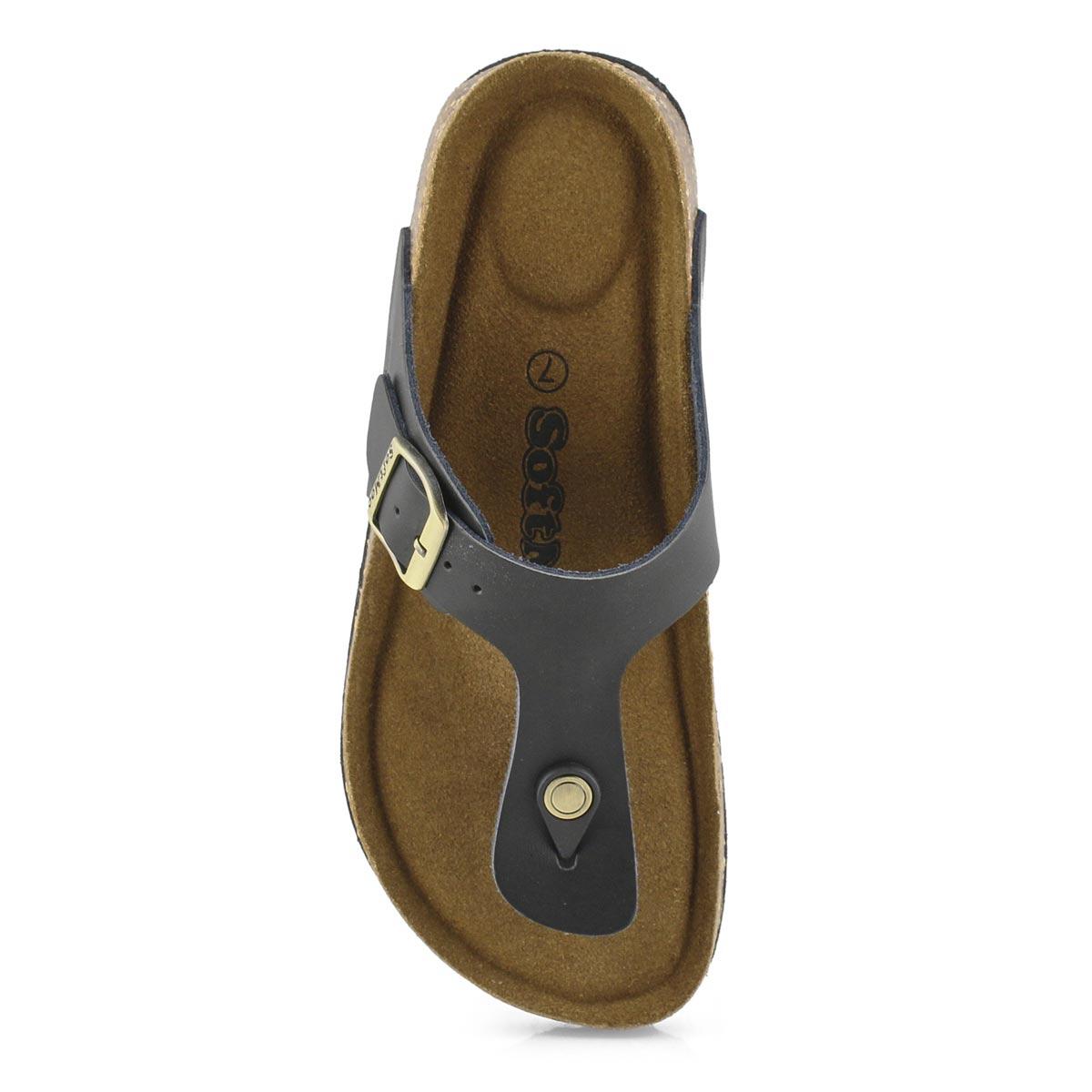 Lds Angy 5 blk memory foam thong sandal