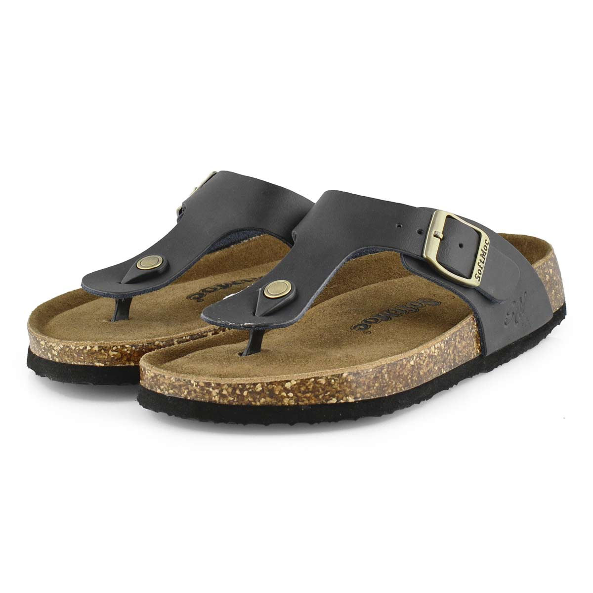 Lds Angy 5 blk memory foam thong sandal