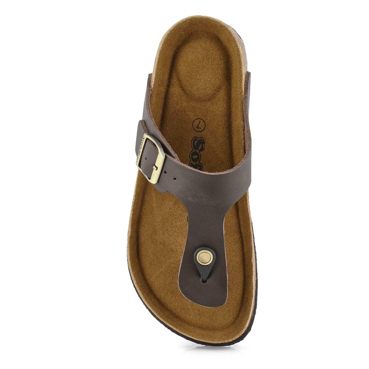 Lds Angy 5 brn memory foam thong sandal