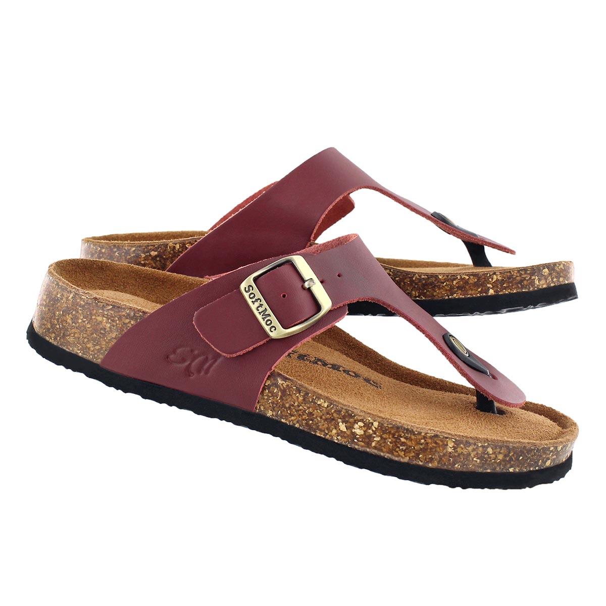 Lds Angy 5 burg memory foam thong sandal