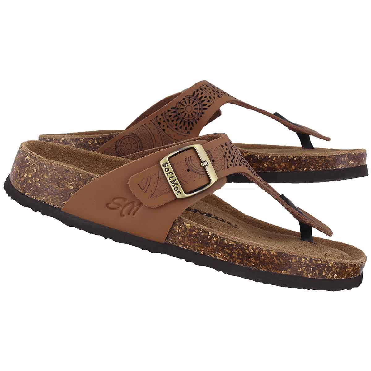 Lds Angy 5 cgn perf mem foam thng sandal