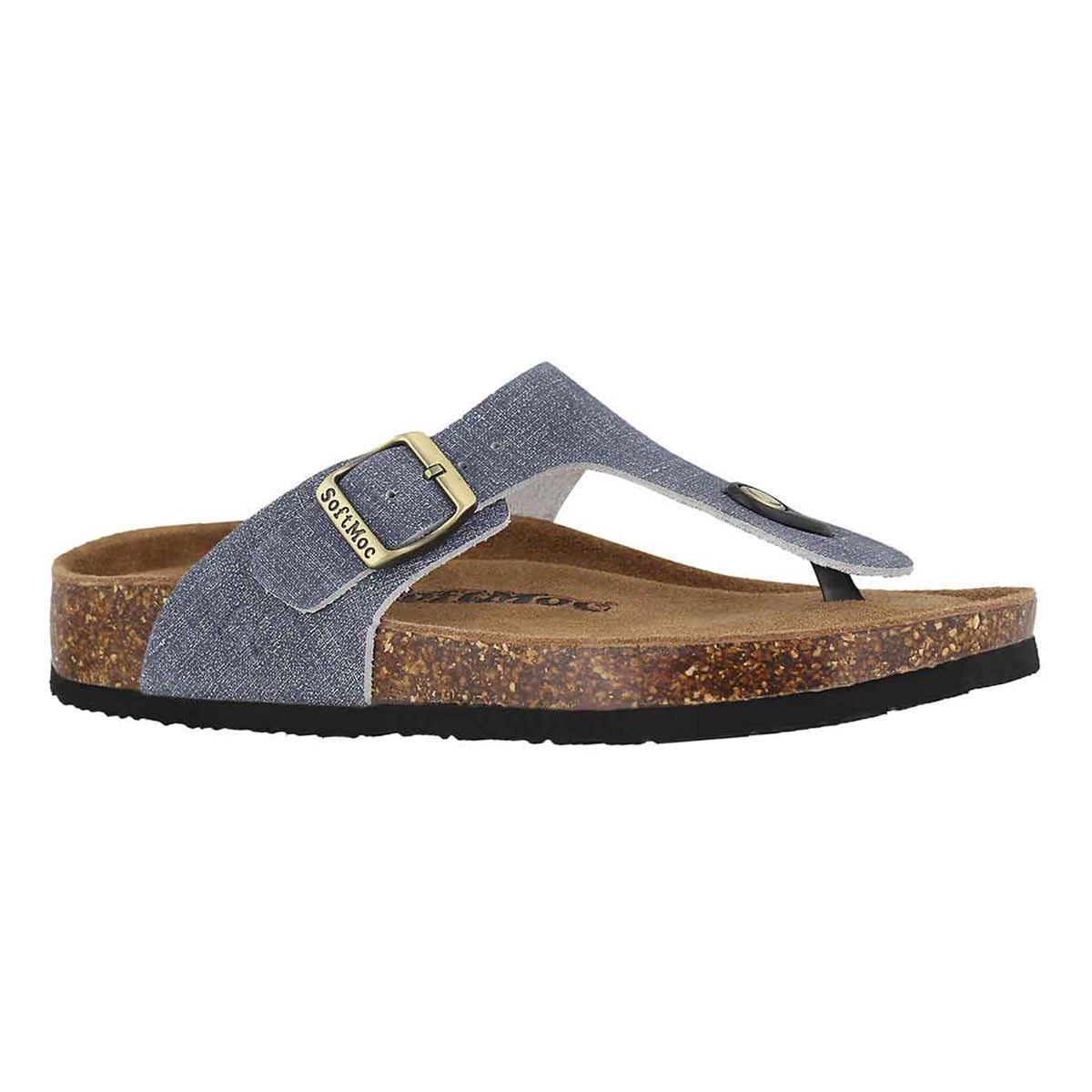 Women's ANGY 5 denim memory foam thong sandals