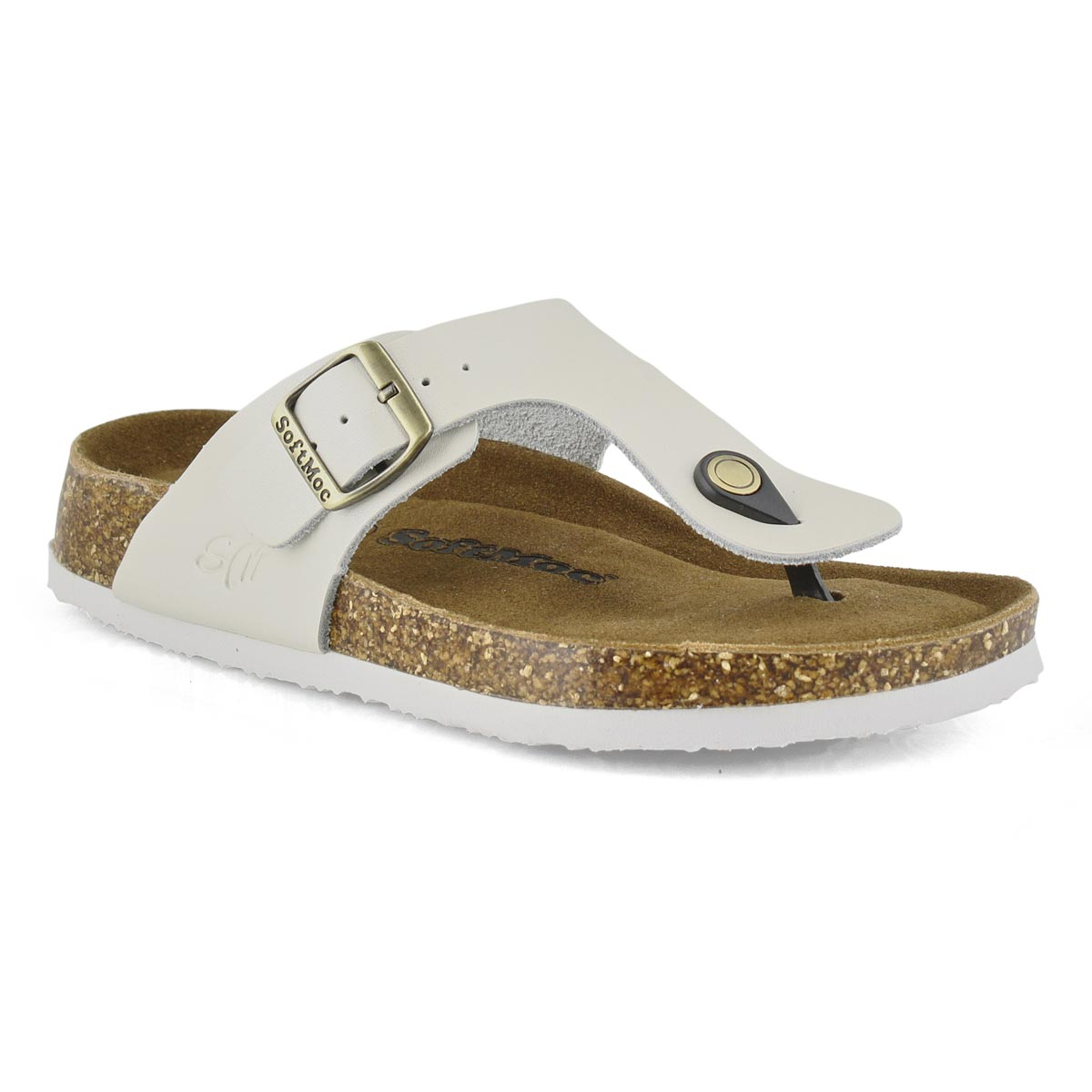 Women's ANGY 5 pearl white memory foam sandals