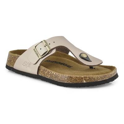 Lds Angy 5 rse gld mem foam thong sandal