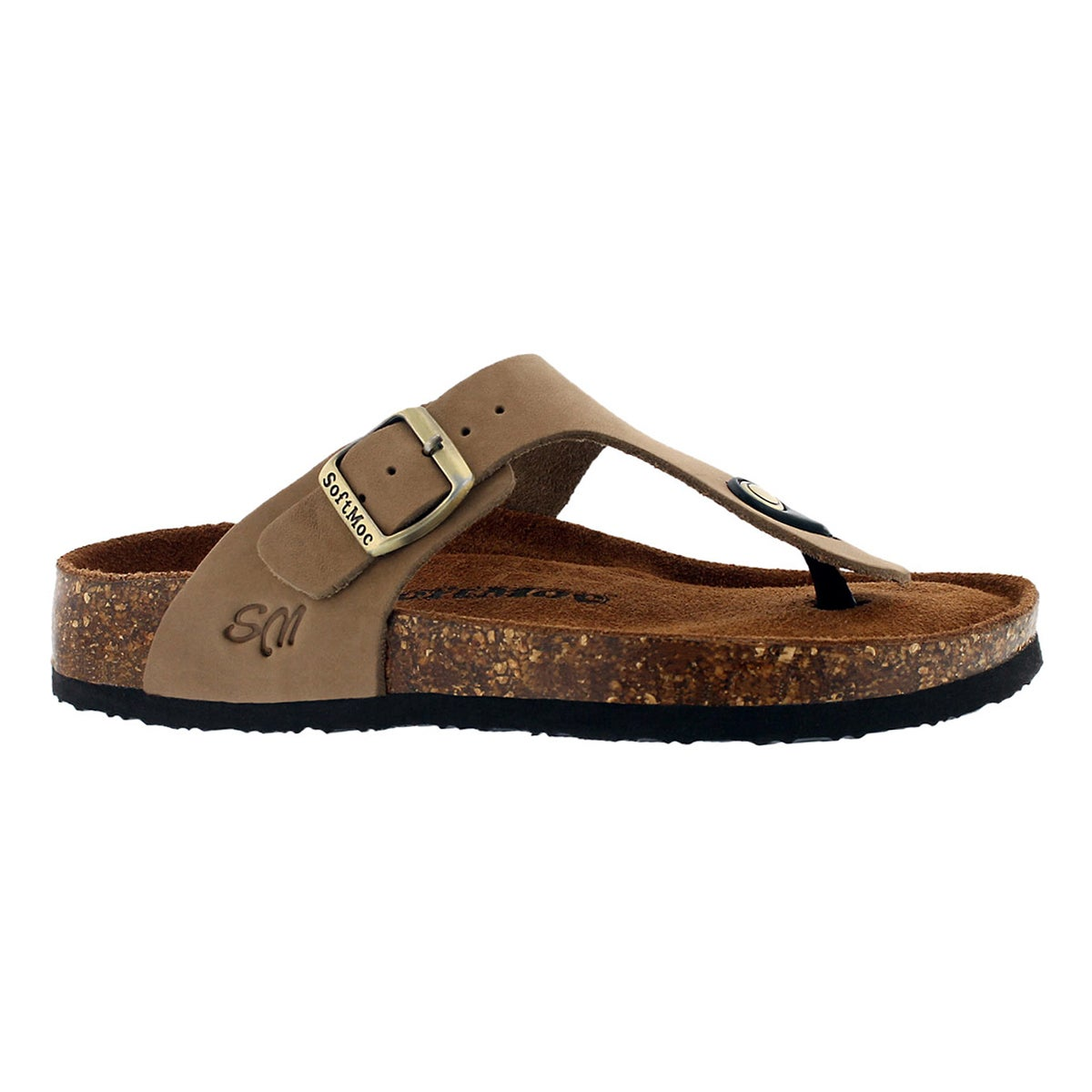 Women's ANGY 5 taupe memory foam thong sandals