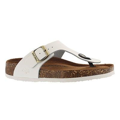 Lds Angy 5 wht memory foam thong sandal