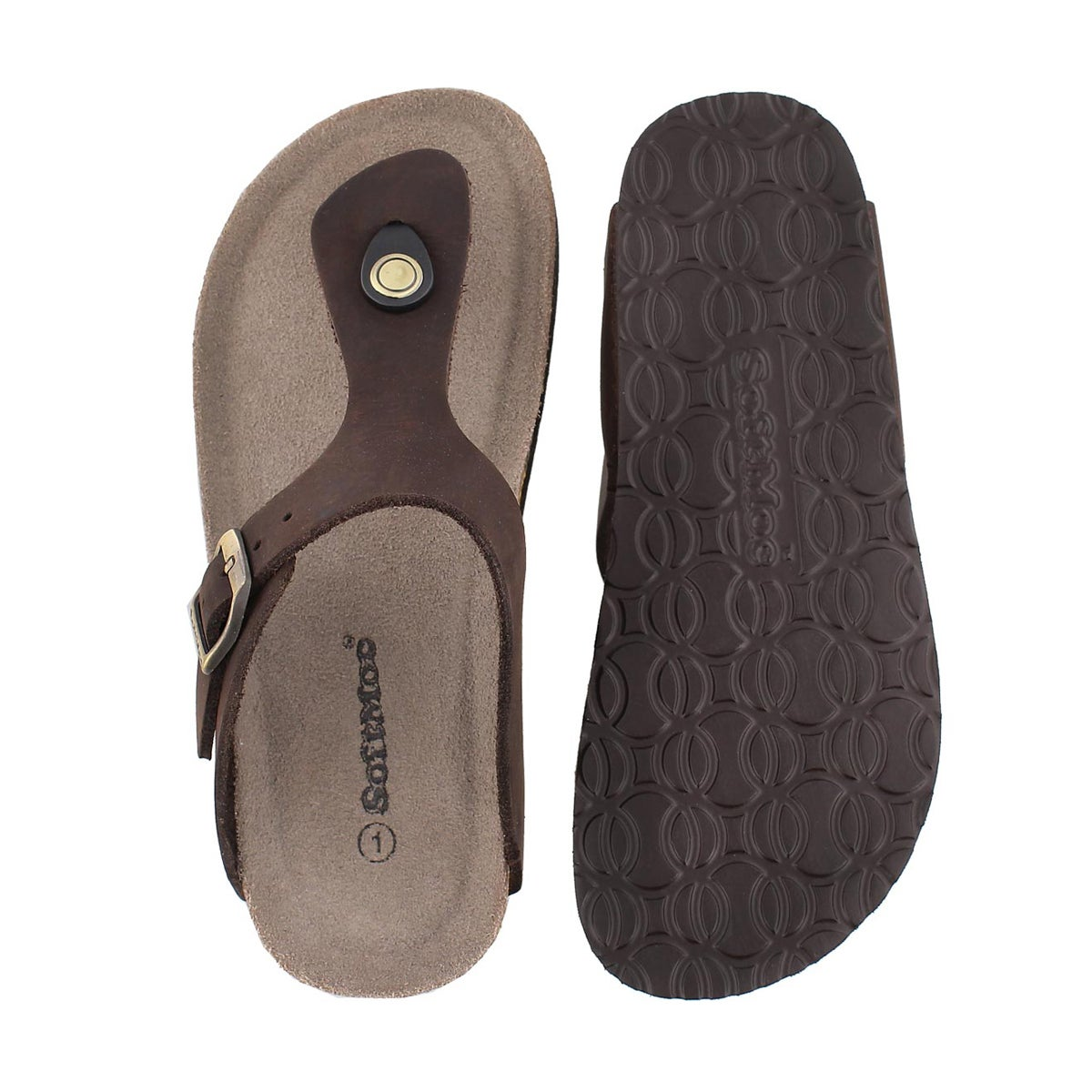Grls Angy 3 brown crz thong sandal