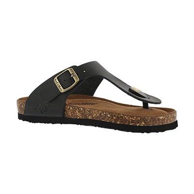 SoftMoc Girls' ANGY 5 black memory foam thong sandals