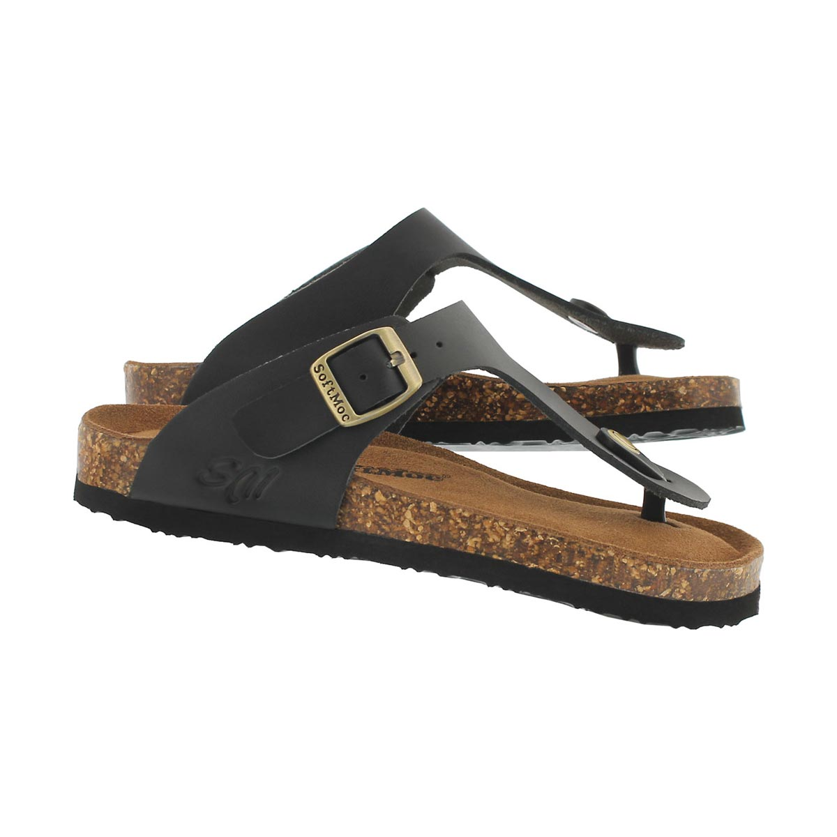 Grls Angy 5 blk memory foam thng sandal