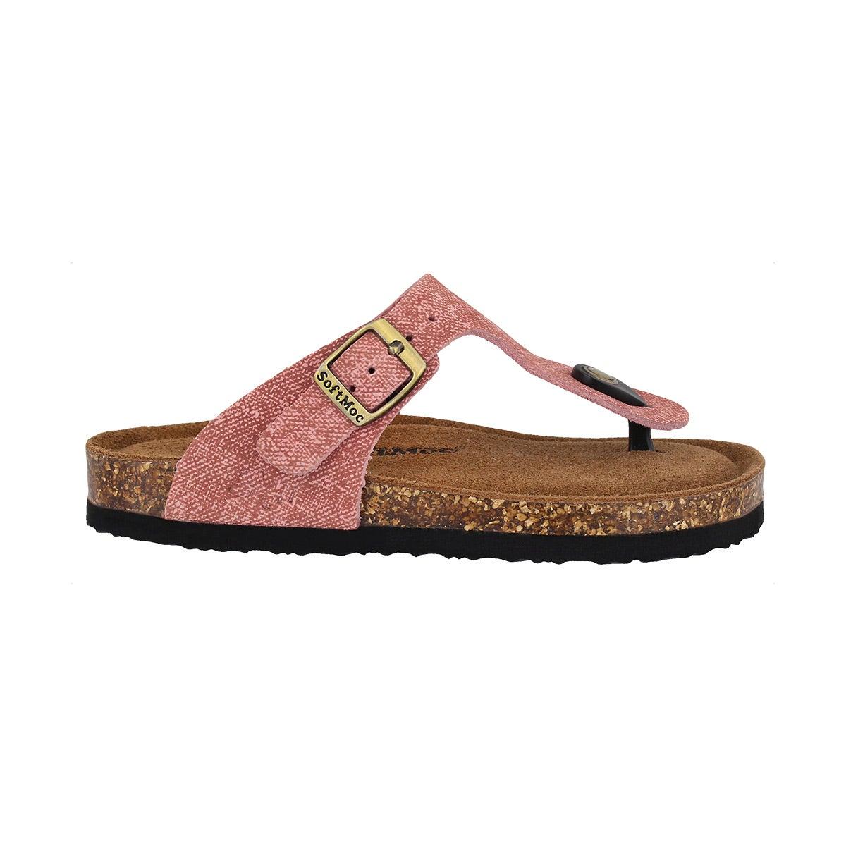Grls Angy 5 blsh memory foam thng sandal