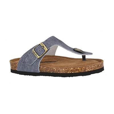 Grls Angy 5 denm memory foam thng sandal