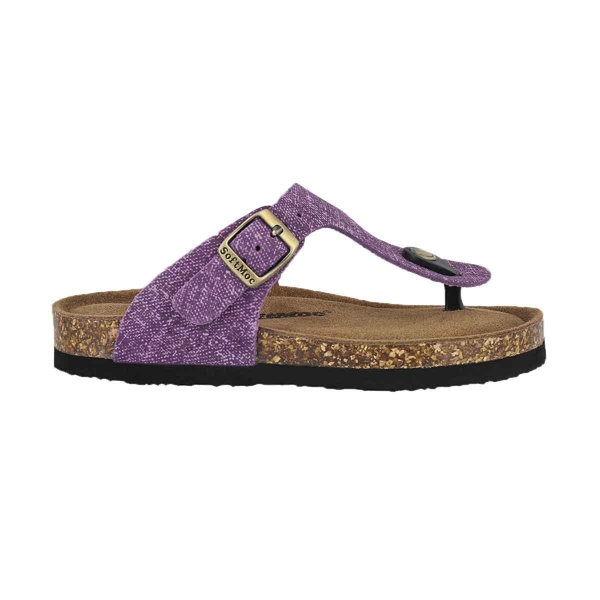Grls Angy 5 purp memory foam thng sandal