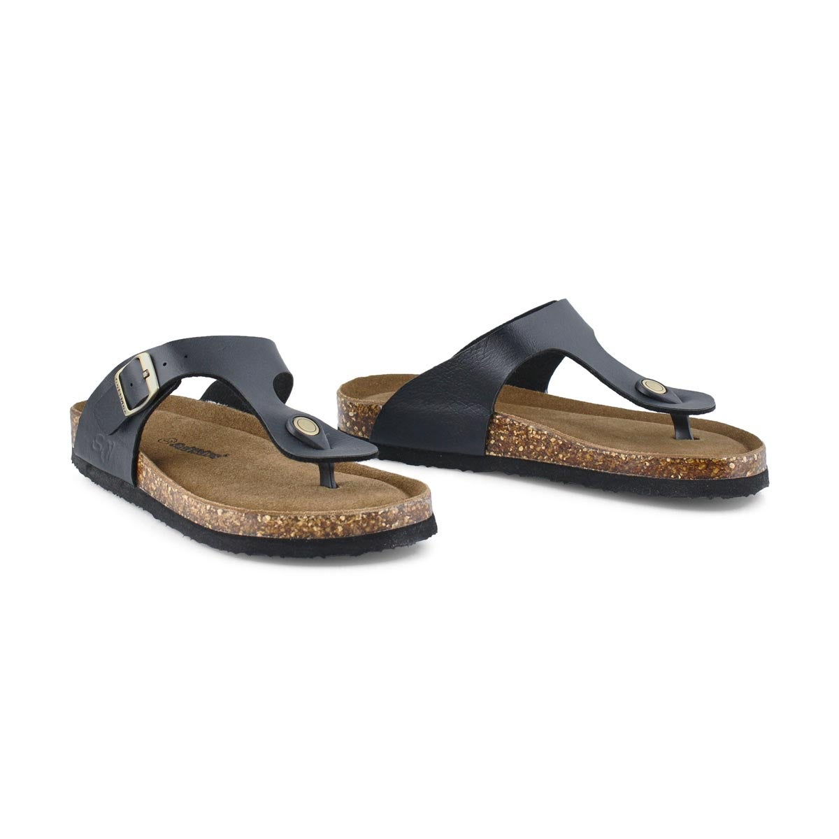 Grls Angy 6 blk memory foam thng sandal