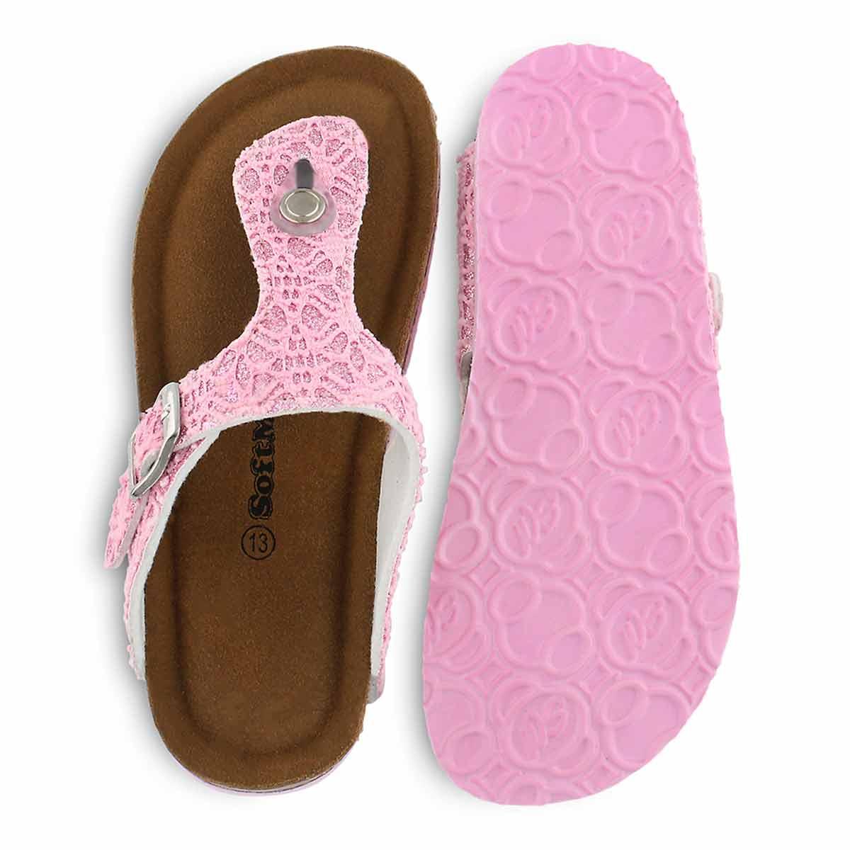 Grls Angy 6 Fab pink mem foam thng sndl