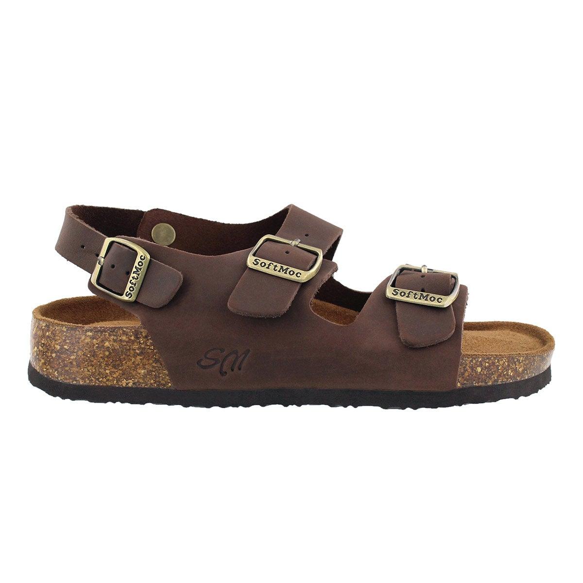 Lds Anika5 brn crz memory foam sandal