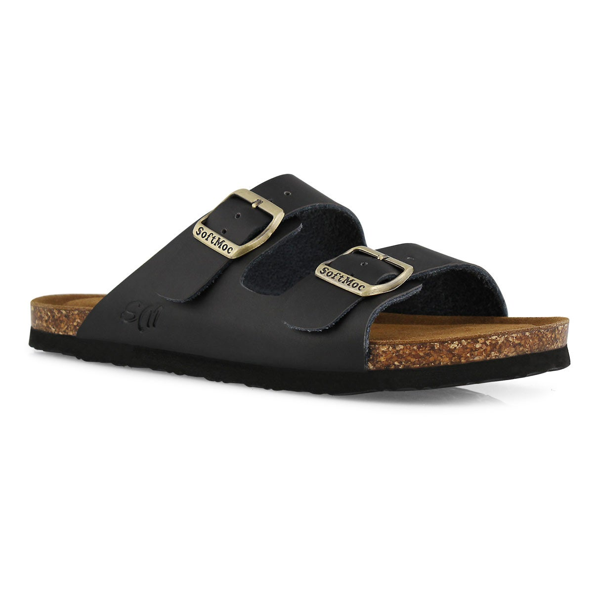 Lds Anna Slim black slide sandal