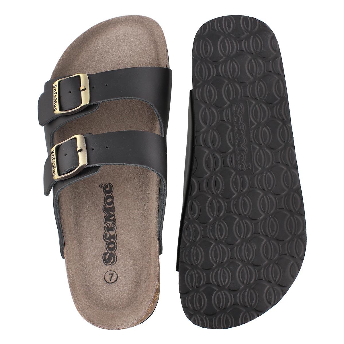 Lds Anna 3 black memory footbed sandal